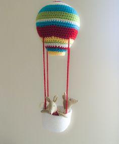 Virkad luftballong. Maileg. Barnrum.