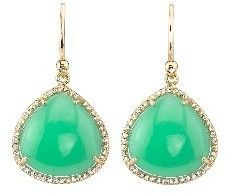 Irene Neuwirth Chrysoprase Teardrop Earrings with Pave Diamonds - Yellow Gold on shopstyle.com
