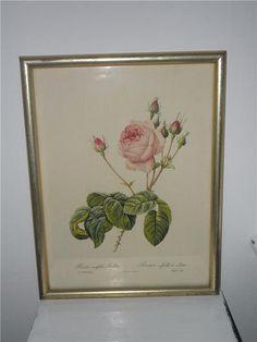 Annons på Tradera: Söt lantligt gammal tavla med ros