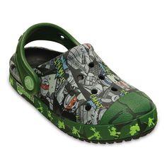 Crocs Bump It Teenage Mutant Ninja Turtles Kids' Clogs, Kids Unisex, Size: 8 T, Black