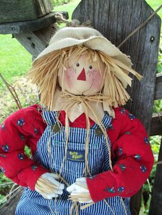 Fall Scarecrow  28 inches. $38.00, via Etsy.