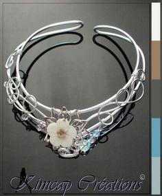 Aluminium wire necklace