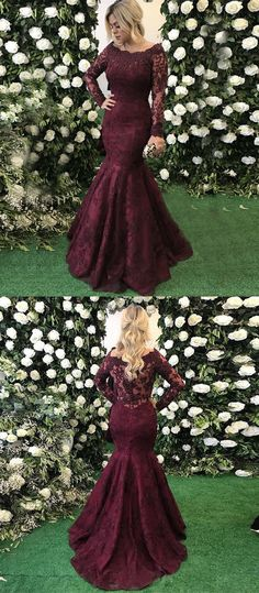 burgundy off the shoudler prom dresses, elegant mermaid prom dresses with sleeves, unique party dresses with lace beading