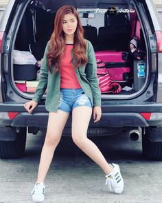 This is the pretty Loisa Andalio dressed casually and smiling for the camera. Indeed, Loisa is a very talented Kapamilya and Star Magic talent. Teen Fashion, Fashion Models, Fashion Beauty, Fashion Outfits, Womens Fashion, Teen Celebrities, Celebs, Ideal Girl, Filipina Beauty