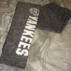 Victoria's Secret PINK YANKEES Yogas New York Yankees Ultimate pants. Size small. In excellent condition. Worn 1x. No flaws. Price firm. No trades. Remember posh takes 20% from each sale. PINK Victoria's Secret Pants Skinny
