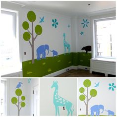 Graphic kids room.