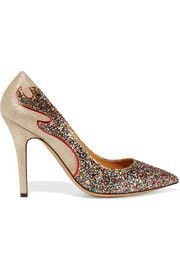 Étoile Isabel Marant Gilby glittered metallic suede pumps