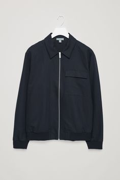 COS image 5 of Cropped bomber jacket in Navy