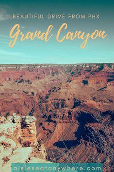 If you're spending a weekend in Phoenix, Arizona, take a short day trip to the Grand Canyon, Sedona, and Superior.  #phoenixarizona #phoenixaz #aisleseatanywhere #daytripsfromphoenix #grandcanyonsouthrim #grandcanyonvacation