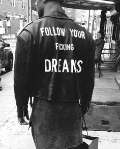 follow em | custom hand painted leather jackets | info@chelsealeifken.com | #CHELSEALEIFKEN