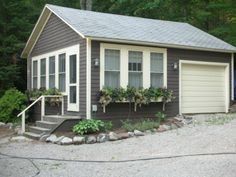 I would like to live in the tiny garage house.