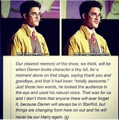 Darren Criss will always be a StarKid Harry Potter Musical, Harry Potter Universal, Harry Potter Fandom, Harry Potter Memes, No Muggles, Team Starkid, Avpm, Mischief Managed, Totally Awesome