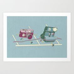 Photo Finish! Art Print by Teo Zirinis - $16.00