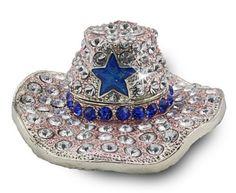 "Objet D'Art Release #23 ""Texas Ten Gallon"" Diamond Cowboy Hat Handmade Jeweled Metal & Enamel Trinket Box by Objet d' Art, http://www.amazon.com/dp/B001UD4JY4/ref=cm_sw_r_pi_dp_lWMzqb03KJ8K0"