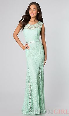 Pretty lace dress in both mint and coral depending on what color you end up choosing for spring. The back is pretty with the ribbon.
