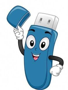 Simple Usb Drive Uses Computer Lab Lessons, Computer Class, Computer Basics, Computer Science, Technology Lessons, Doodle Characters, School Frame, School Murals, Islamic Cartoon