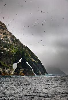 Skellig Islands, Ireland...looks like skeleton fingers.