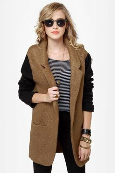 f36c0b2ffe Uptowner Black and Brown Coat