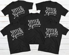 Personalized Sister Shirt, Sister Squad Shirt, Matching Sister Shirt, Custom Best Friend Tee, Sorority Sister Shirt, Squad Goals, Girl Trip Gifts For Your Sister, Best Friend Gifts, Best Friends, Sorority Sisters, Sister Shirts, Squad Goals, Unisex Fashion, Graphic Sweatshirt, T Shirt