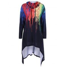 SHARE & Get it FREE | Asymmetrical Splatter Paint HoodieFor Fashion Lovers only:80,000+ Items·FREE SHIPPING Join Dresslily: Get YOUR $50 NOW!