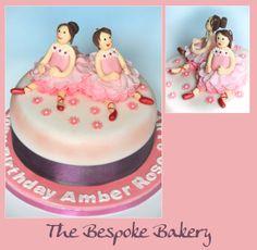 Twin Ballerina cake by The Bespoke Bakery, Cambridge