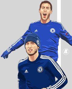 Chelsea Football, Chelsea Fc, Best Football Players, Eden Hazard, Leo, Soccer, Messi, Graphic Art, Daddy