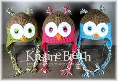 The Crafting Secretary: Crochet Owl Hats - Free Pattern