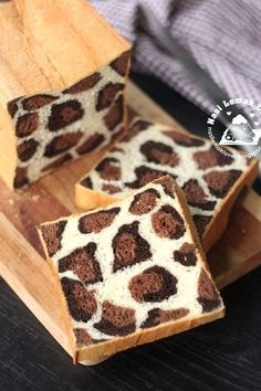 Check out the interior of this bread: It really does look like leopard print.