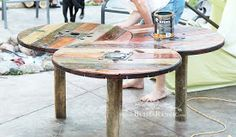 Bliss Ranch: Spool Patio Table