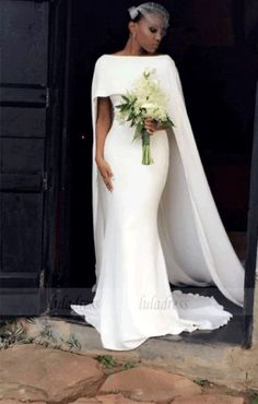 Simple Country Mermaid Wedding Dresses with Long Sweep Wraps Bateau Neck Formal . Simple Country Mermaid Wedding Dresses with Long Sweep Wraps Bateau Neck Formal Party Gowns for Bride Bridal Dresses, Wedding Gowns, Party Gowns, Lace Wedding, Wedding White, Sheath Wedding Dresses, Spring Wedding Dresses, Bateau Wedding Dress, Cream Wedding Dresses
