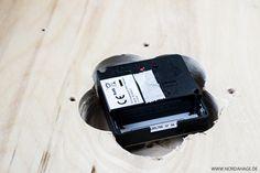 Holzuhr aus IKEA Frosta Hocker / DIY wooden clock