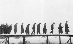 German prisoners of war captured near Moscow in December, 1941. Photographer: Sergei Strunnikov