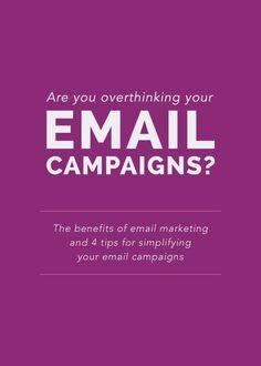 Are you overthinking your email campaigns? - Elle & Company Confira dicas, táticas e ferramentas para E-mail Marketing no Blog Estratégia Digital aqui em http://www.estrategiadigital.pt/category/e-mail-marketing/