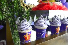 Disney Descendants birthday party cupcakes! See more party planning ideas at CatchMyParty.com!