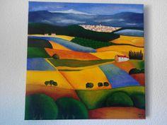 Campo. Acrílico pintado en 2006.