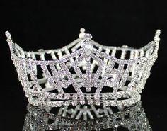 Janfashions Full Crown Clear Austrian Rhinestone Crystal Tiara Pageant Bridal Prom T1297 Tiara http://www.amazon.com/dp/B00R3K2026/ref=cm_sw_r_pi_dp_4YhOvb1BSVB33