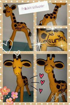 Giraffe * gehäkelt * crochet  https://www.facebook.com/fraeuleinwollwunder