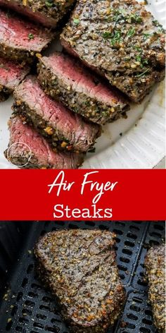Air fryer steak is a fast and convenient way to cook a steak, and you won't believe how tender and juicy it is. Make this easy air fryer steak for a quick meal! Easy Dinners, Lunches And Dinners, Quick Meals, Dinner Dishes, Pasta Dishes, Main Dishes, Roasted Garlic Mashed Potatoes, Air Fryer Steak, Mexican Food Recipes