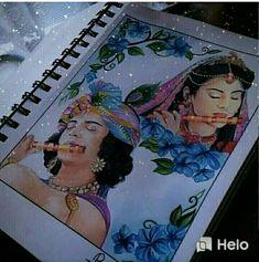 Krishna Drawing, Radha Krishna Sketch, Radha Krishna Pictures, Krishna Painting, Krishna Art, Krishna Names, Doodle Art Drawing, Girl Drawing Sketches, Art Drawings Sketches Simple