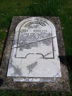 Hilah <i>Lyon</i> Hamilton 1807-1877 Union Cemetery Hackettstown, Warren County, New Jersey