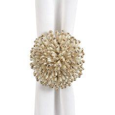 """Pearl Starburst Napkin Rings, 3¼"""".  $35.80 for 4.  From Z Gallerie"""