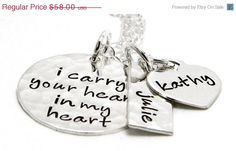 I carry your heart in my heart necklace -  Jaylean -Deferent font of course :)