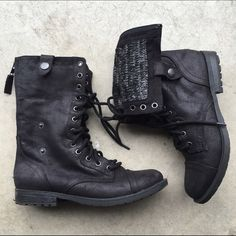 Black Combat Boots from Target Brand new! Worn once. Ships Immediately! Xhilaration Shoes Combat & Moto Boots