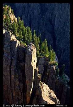 Island peaks at sunset, North rim. Black Canyon of the Gunnison National Park, Colorado