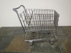 vintage Small Grocery Shopping Cart , Large Doll size shopping cart, by mauryscollectibles on Etsy