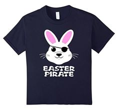 DIY Decoration Happy Easter Day Bunny Pirate T-Shirt Gifts ideas for Kids Girls boys toddlers