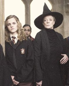 Hermione and McGonagall HP #pottertime #mindhplove
