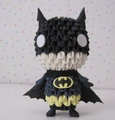 chibi batman 3D origami