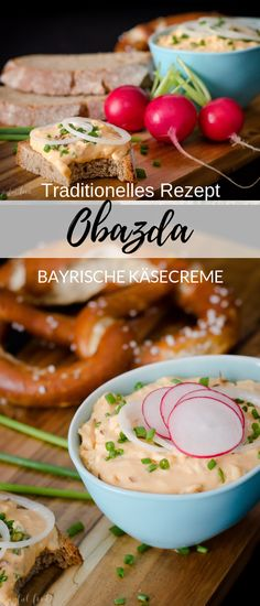 Traditional original Bavarian recipe for Obazda. A hearty cheese cream suitable for snacks and the Oktoberfest. # Bavarian time Traditional original Bavarian recipe for Obazda. A hearty cheese cream suitable for snacks and the Oktoberfest. Mexican Breakfast Recipes, Mexican Food Recipes, Healthy Recipes, Breakfast Party, Raclette Originale, Bavarian Recipes, Bavarian Food, Oktoberfest Party, Different Recipes