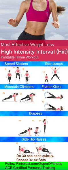 Scientifically proven to lose weight the best, this high intensity interval training workout HIIT will help you lose weight and get fit!  Follow  Pinterest.com/SuperDFitness
